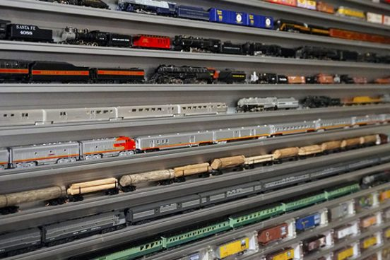 Train Display Cases
